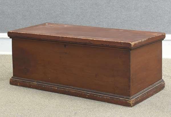 "Country blanket box, 43""l x 18.5""D x 17.5""H (885-7)"
