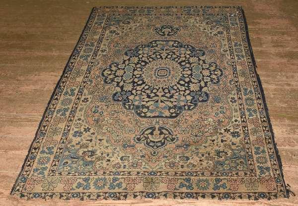 "Oriental scatter rug, 49"" x 73.5"""