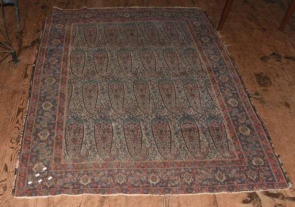 "Oriental scatter rug, 55"" x 74"""