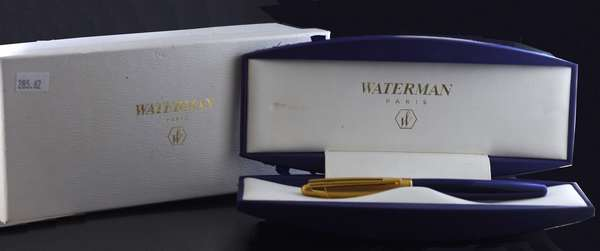"Waterman 18k and enameled ""Edson"" pen, Paris (285-62)"
