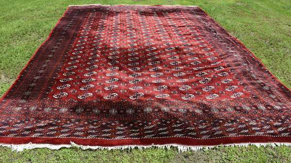 """Room size Oriental rug, red field, 10'3"""" x 13'10"""" (696-24)"""