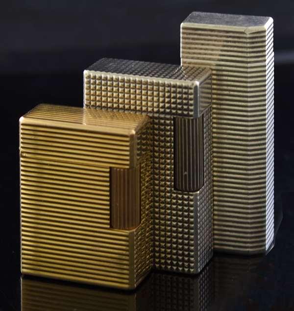 Three lighters; Cartier, J.C. Dupont (2) (285-66)