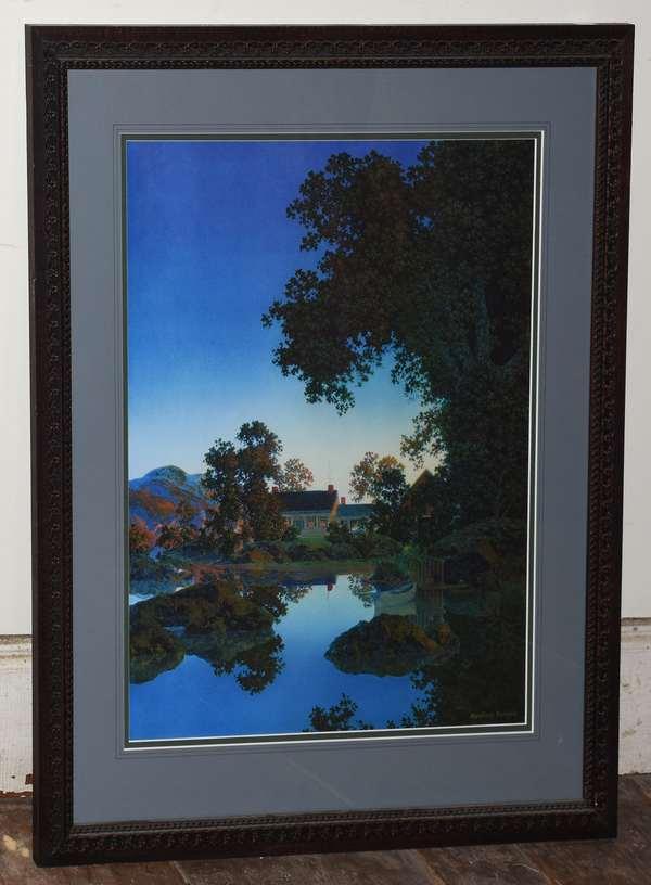"Maxfield Parrish print ""Evening Shadows"", 20"" x 16""(293-1)"