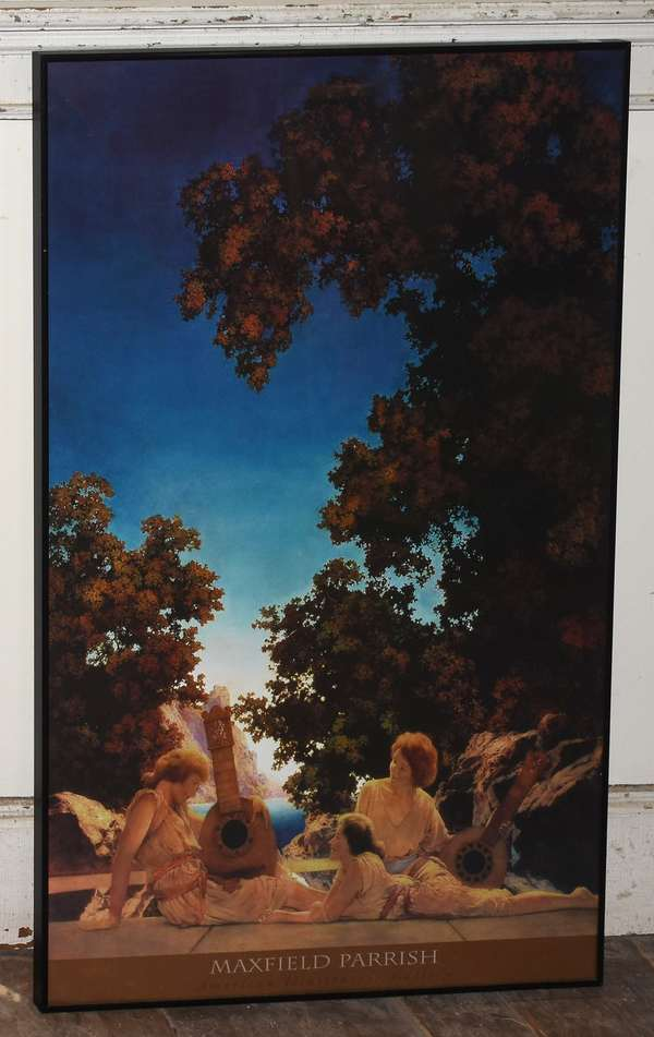 """Maxfield Parrish print """"The Lute Players"""", 35"""" x 16"""" (293-2)"""