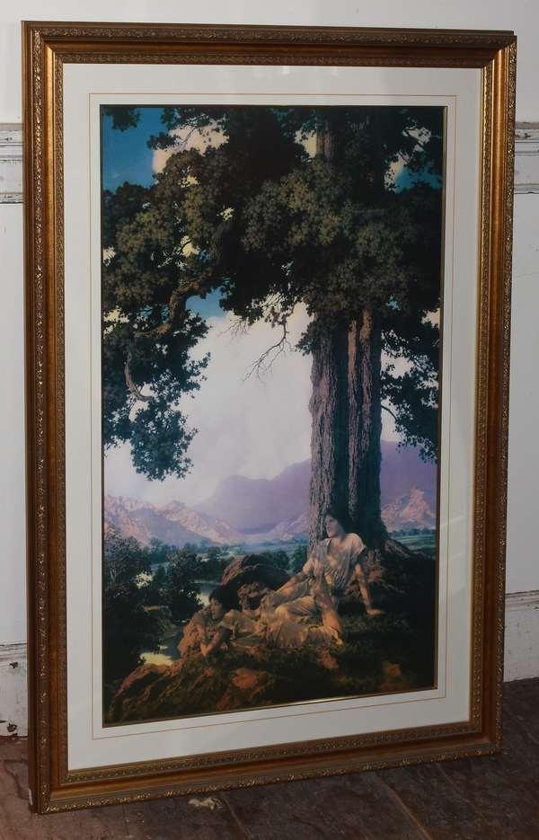 """Maxfield Parrish print """"Hilltop"""",  33"""" x 22"""" (293-3)"""
