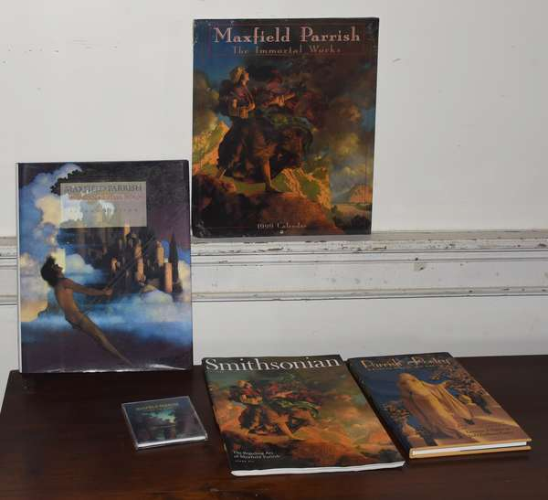 Four Maxfield Parrish books inc. one signed by Alma Gilbert (293-5)