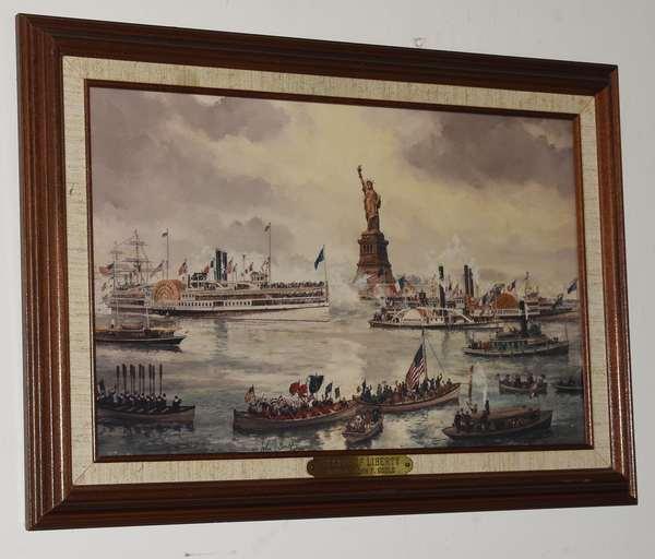 "John Gould print ""Statue of Liberty"",  9"" x 14"" (293-7)"