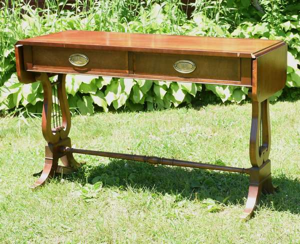 Modern two drawer sofa table, Baker Furniture (696-36)