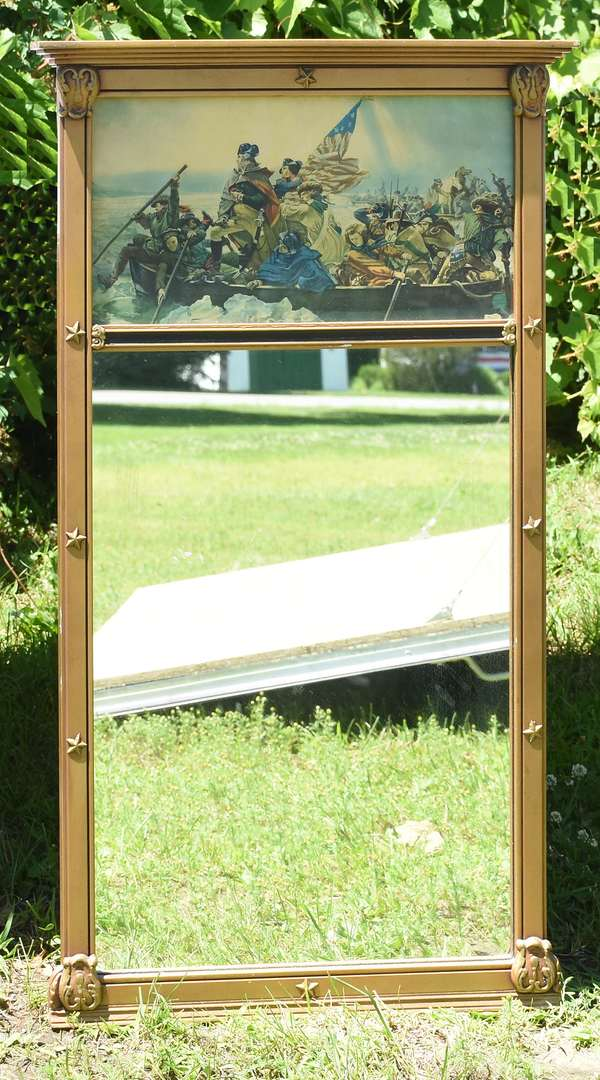 "Mirror with Washington crossing the Delaware, 20"" x 37"" (696-37)"