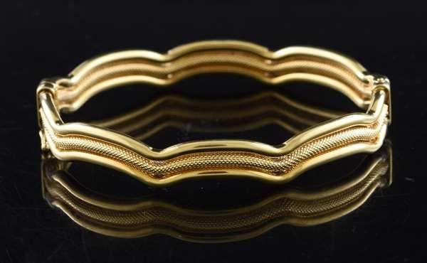 Jewelry: 18k yellow gold bracelet, modern design, 13.8 grams