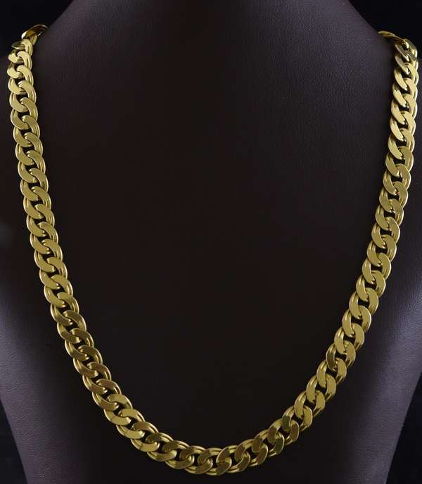 "Jewelry; 14k yellow gold neck chain, 33.5 grams, 15""L."