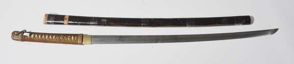"Japanese Samurai sword with military ""Gunto"" blade, 39""L."