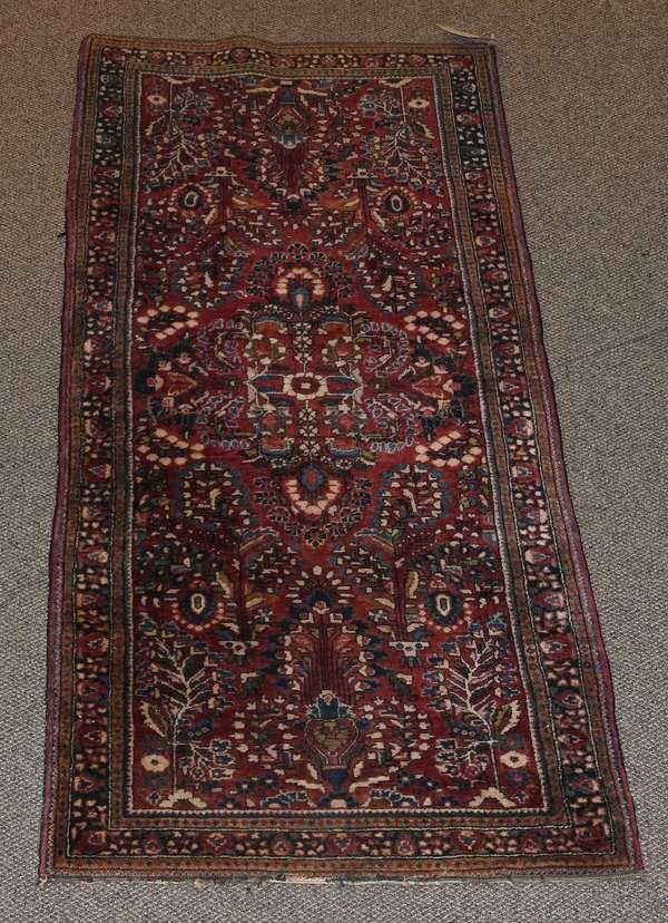 "Oriental scatter rug, 6'3"" x 2'5"""