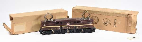 Lionel 2360 Tuscan solid stripe Electric Locmotive, OB