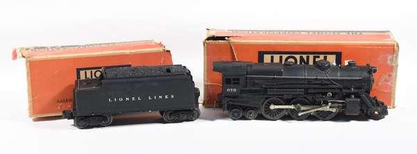 Lionel 675 steam locomotive, 6466 WX tender, OBS