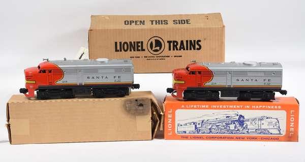 Lionel 218 Santa Fe Alco AA Diesel Units, OBS