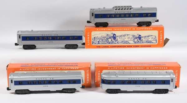 Lionel 2412-14-14-16 Santa Fe Passenger Set, 3 OBS