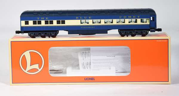 Lionel 15406 Blue Comet Giacobini Heavyweight Diner, Station Sounds, OB