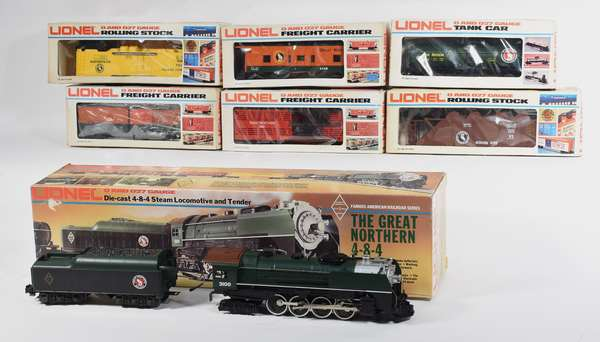 Lionel FARR#3 Great Northern 3100 4-8-4 steam/loco/tender and 6 freights, OBS