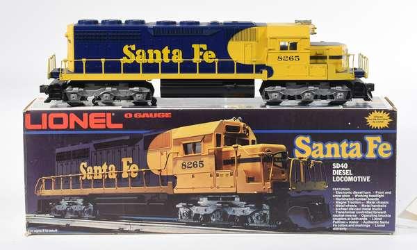 Lionel 8265 Santa Fe SD40 Diesel Locomotive, OB