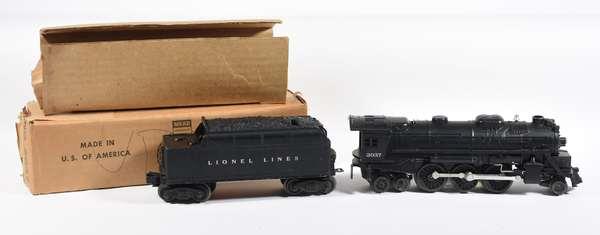 Lionel 2037 steam locomotive, 6466W tender, OB