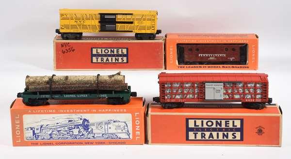 Lionel Postwar Freights, 6356, 6437, 6361, 6434, OBS