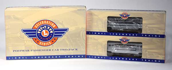 Lionel 39154 PRR Congressional Aluminum Passenger Car 2 Pack, OB