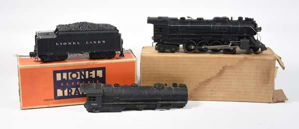 Lionel 726 Bershire steam locomotive, 2426W tender, OBS, extra cast body