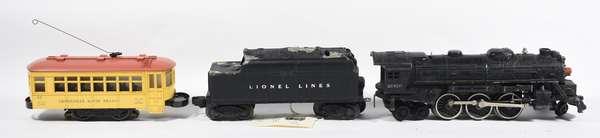 Lionel 2026 steam/loco/tender; 60 Rapid Transit Trolley