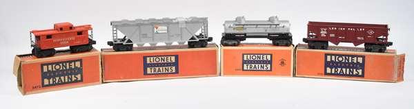 Lionel Postwar Freights, 6346, 2456, 6465, 2472, OBS