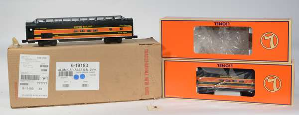 Lionel 19181-82 Great Northern Empire Builder Prairie View, River View, Vista Dome Cars, OBS