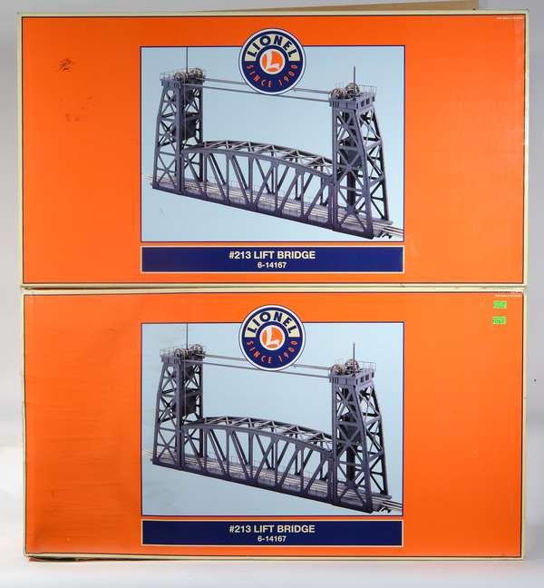 Lionel 14167 (2) #213 Lift Bridges, OBS