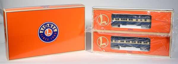 Lionel 39082 Blue Comet Heavyweight Passenger Car 2 pack, Halley, Tuttle, OBS