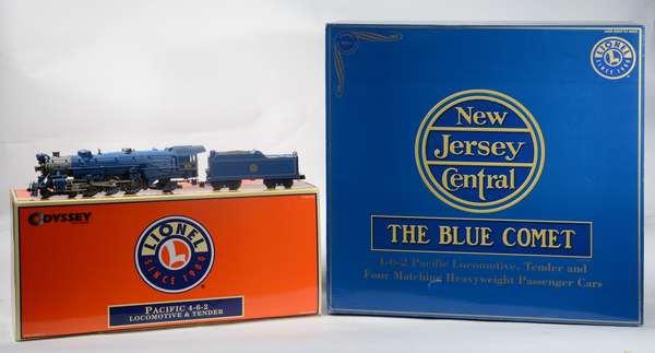 Lionel 21787 Blue Comet Steam Passenger Set, 4 cars, OBS