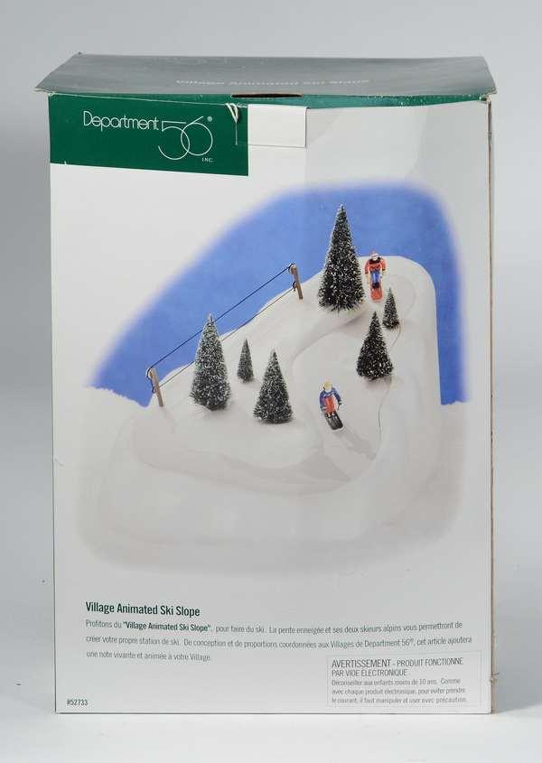 Dept. 56 Village Animated Ski Slope, OB