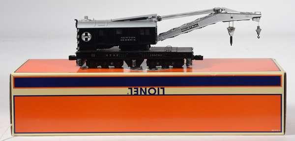 Lionel 26769 SantaFe Crane Car, Crane Sounds, OB