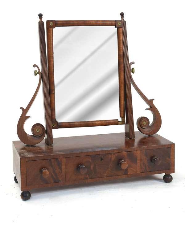 "Seymour school mahogany dresser mirror, 21""W. x 24""H."