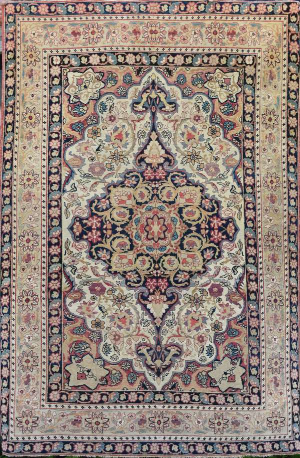 """19th C. Oriental scatter rug, 4'8"""" x 6'10"""""""