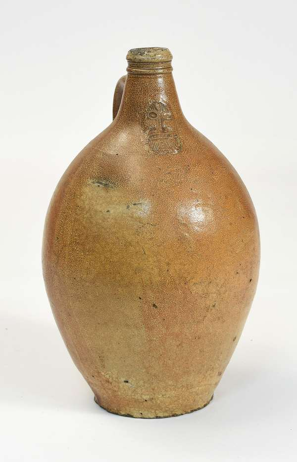 "Large size Bellarmine jug, 17""H."