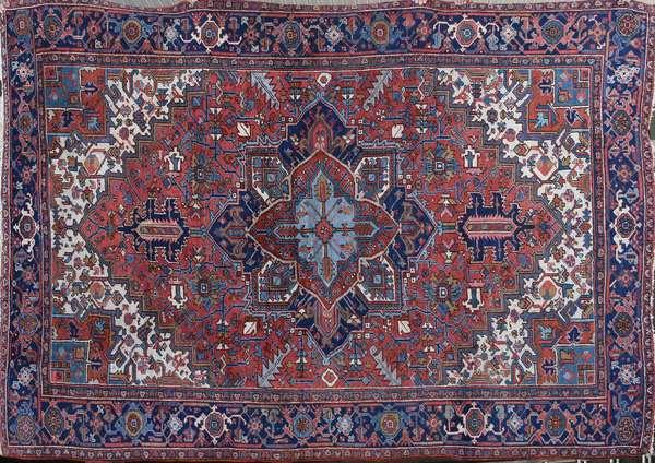 "1920's room size Heriz rug, 7'11"" x 10'6"""