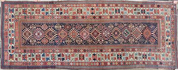 "19th C. Oriental scatter rug/runner 3'7"" x 8'"