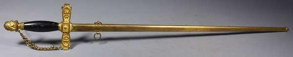 "Fraternal Order Odd Fellows sword, 36.5""L."