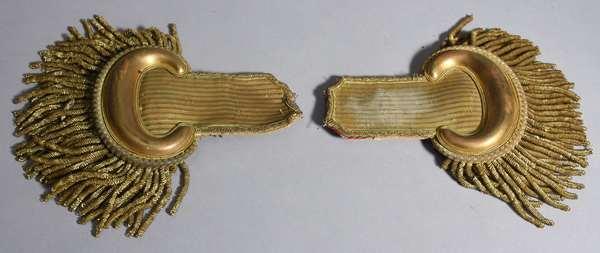 """Pair of officer's epaulets, 8""""L."""