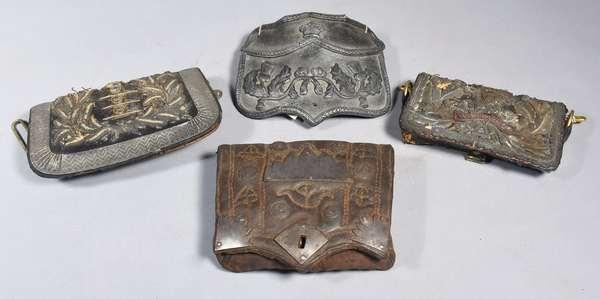 Three British cartridge case with case cover