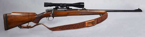 Browning 338 cal. bolt action, with scope, #3L21195 (T-57)