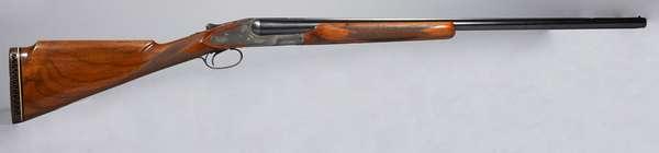 L C Smith SBS Engraved 12 gauge trap, #2372, ejector, single trigger (T-61)