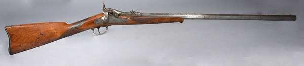 "U S Springfield trap door musket, serial number 16014; model 1873, 49""L."