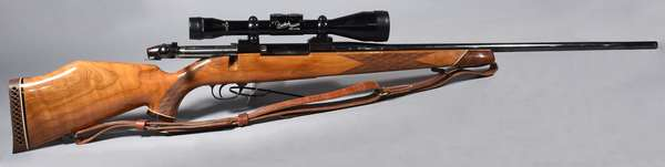 Wetherby Mark V, 257 mag, with scope, #P6976, (T-27)