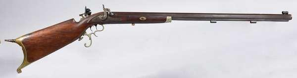 Antique ca.1870 Schuetsen type rifle, made in Newark, NJ *attributed to Jacob Widmer-Newark, NJ