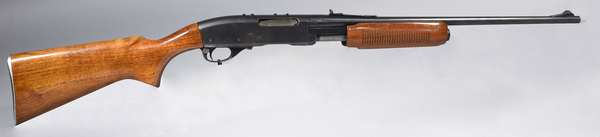 Remington, model 760, 35 cal. pump, #112082, (clip at desk) (T-6)